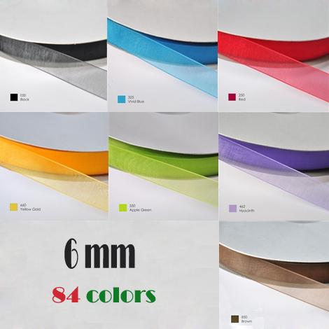 6mm organza ribbon
