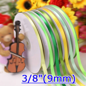 9mm Single Face Satin Ribbons